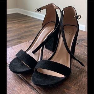 Black felt heels